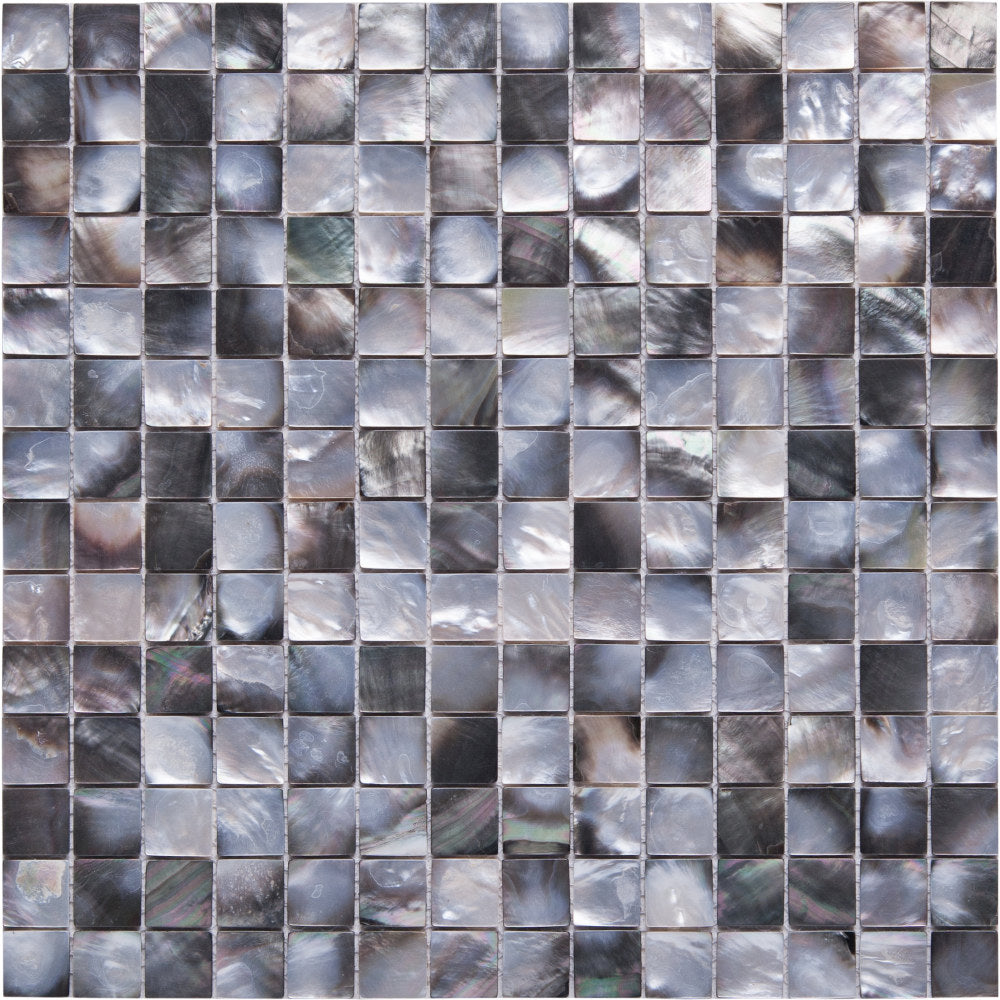 GE01120 Shell Black Lipped Mussell Square Mosaic 20x20mm