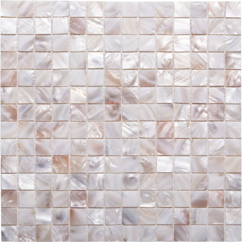 GE01121 Shell square mosaic angel white 20x20mm