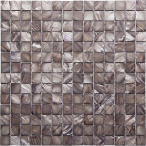 GE01124 Shell Silver Square Mosaic 20x20mm