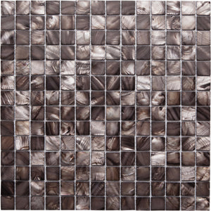 GE01133 Shell Copper Square Mosaic 20x20mm