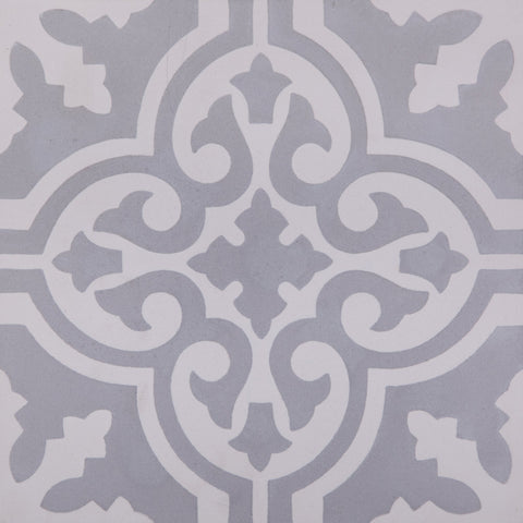Fleur GE01161 Pattern Grey & White Encaustic 200x200mm