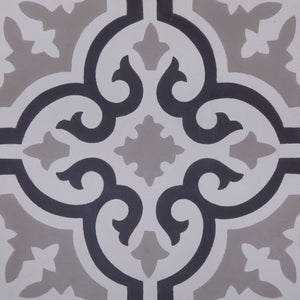 Fleur GE01162 Grey, Black & White Encaustic 200x200mm