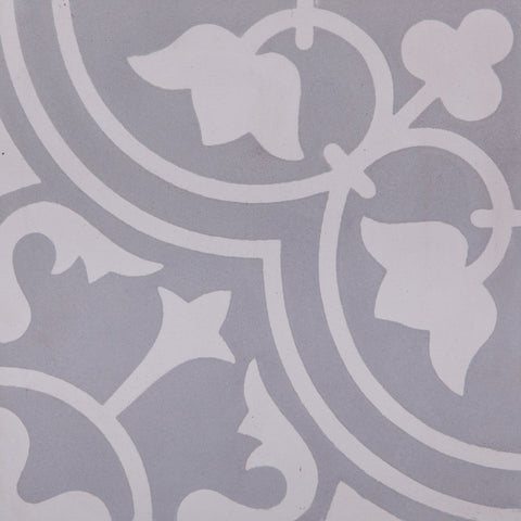Fleur Tulip GE01164 Grey & White Encaustic 200x200mm