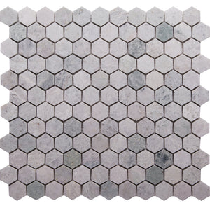 Hex GE01191 Ming Green Honed Hexagon Mosaic 25x25x10mm