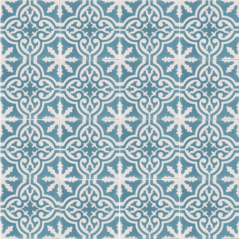 Fleur GE01431 Pattern Blue & White Encaustic 200x200mm