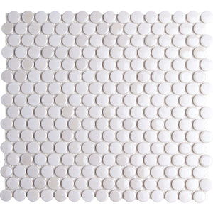 Pebbles GK03186 19mm glazed penny round metallic mother of pearl