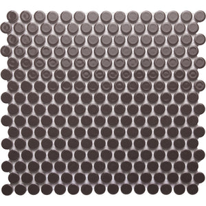 Pebbles GK03258 19mm glazed penny round chocolate brown capuccino