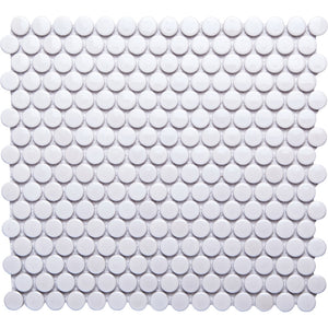Pebbles GK03181 19mm glazed penny round white gloss