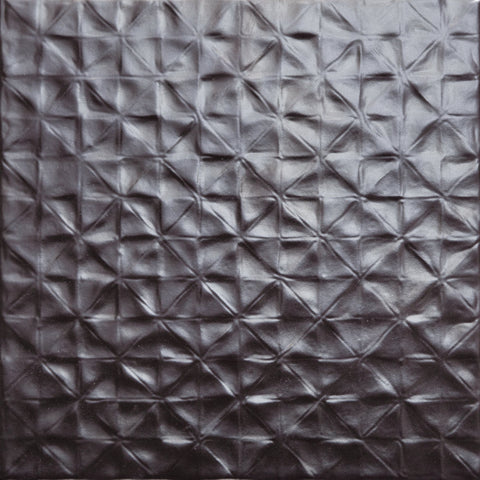 W200 series GT06123 200x200x7mm glazed ceramic wall tile matt silver small square pattern textured
