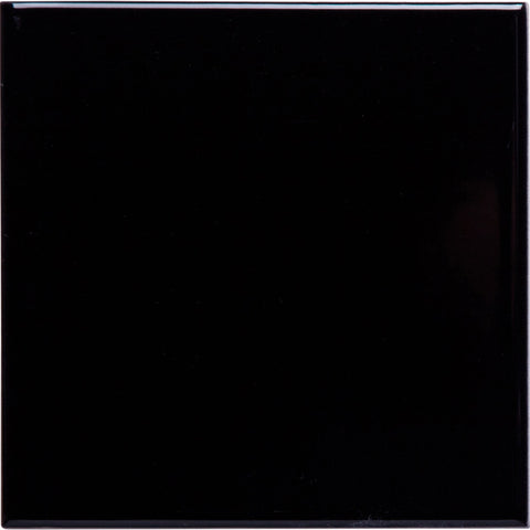 W200 series GT06142 200x200x7mm glazed ceramic wall tile black