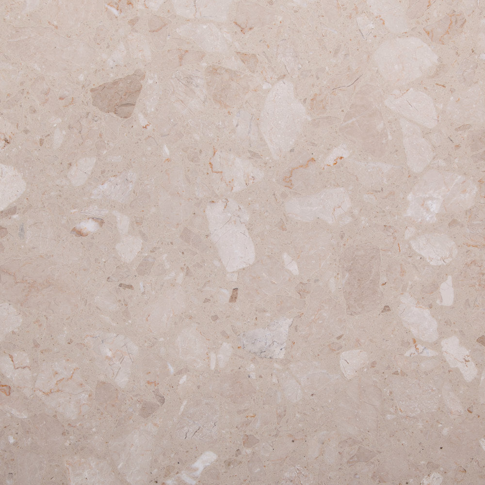 Marblestone Series GT06235 Agglomerated Stone Tile 400x400x12mm Beige Polished