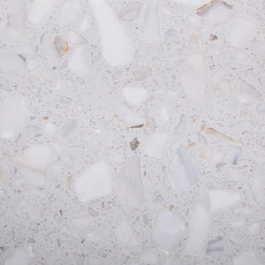 Marblestone Series GT06238 Agglomerated Stone Tile 400x400x12mm White Polished