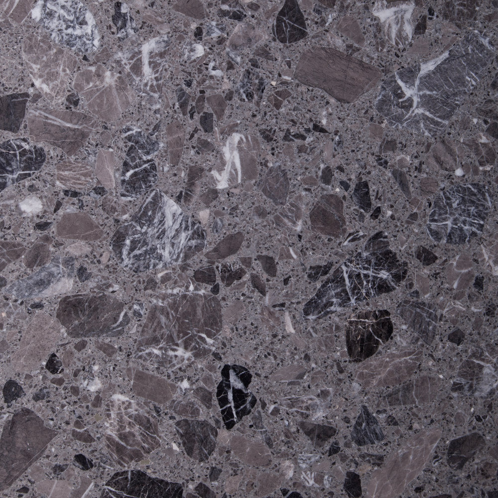 Marblestone Series GT06244 Agglomerated Stone Tile 400x400x12mm Grey Polished