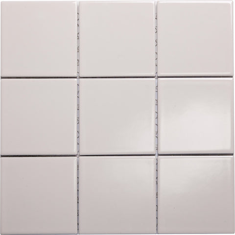 W100 series GT06610 100x100mm glazed ceramic wall tile gloss ivory