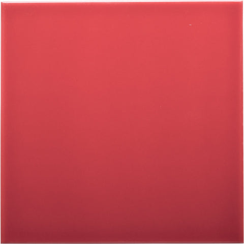 W200 series GT03886 200x200mm Glazed Ceramic Wall Tile Gloss Firetruck Red