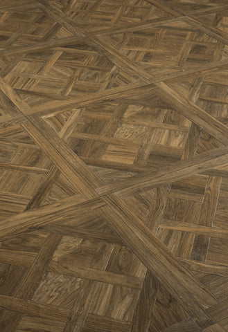 Eglise Ecrue GU02077 750x750x10mm Parquetry Wood Effect Ceramic Tile Rectified
