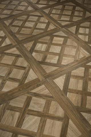 Eglise Ecrue Deco GU02084 750x750x10mm Parquetry Wood Effect Ceramic Tile Rectified