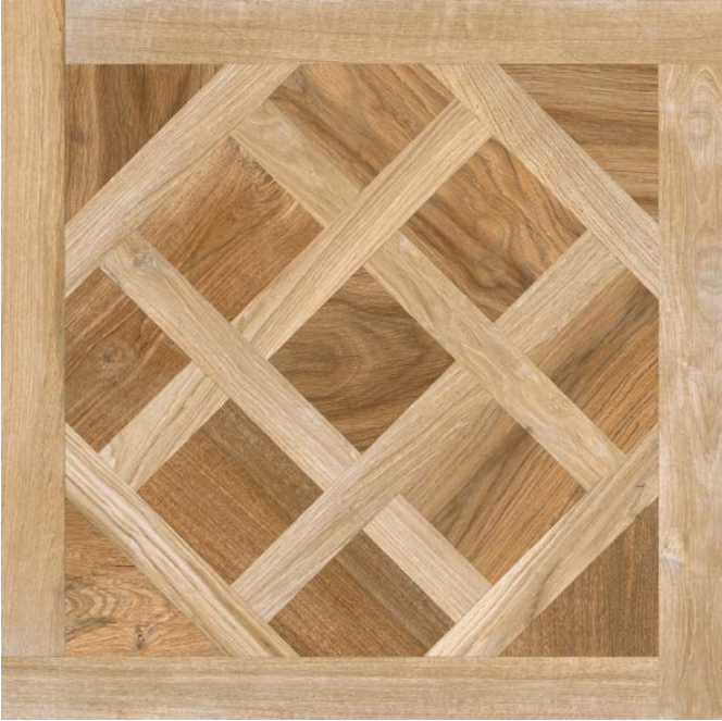 Eglise Sable Deco GU02085 750x750x10mm Parquetry Wood Effect Ceramic Tile Rectified