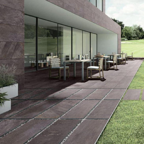 Pietra paver series Carbone porcelain tile 20mm thick, texture 00