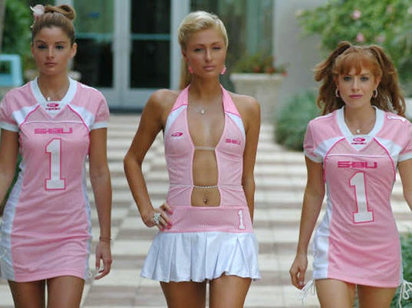 Paris Hilton in the Pledge wearing Fergo Sports!