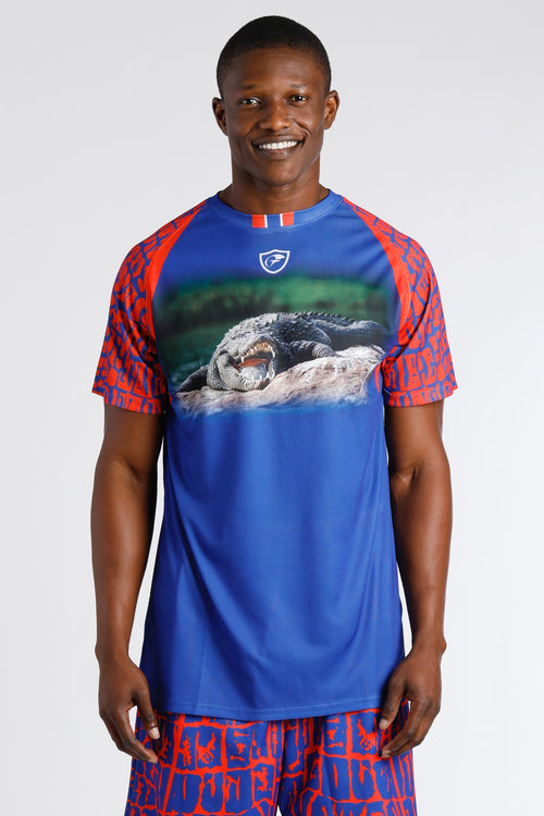 Men's Blue Gator Gx Short Sleeve T-shirt