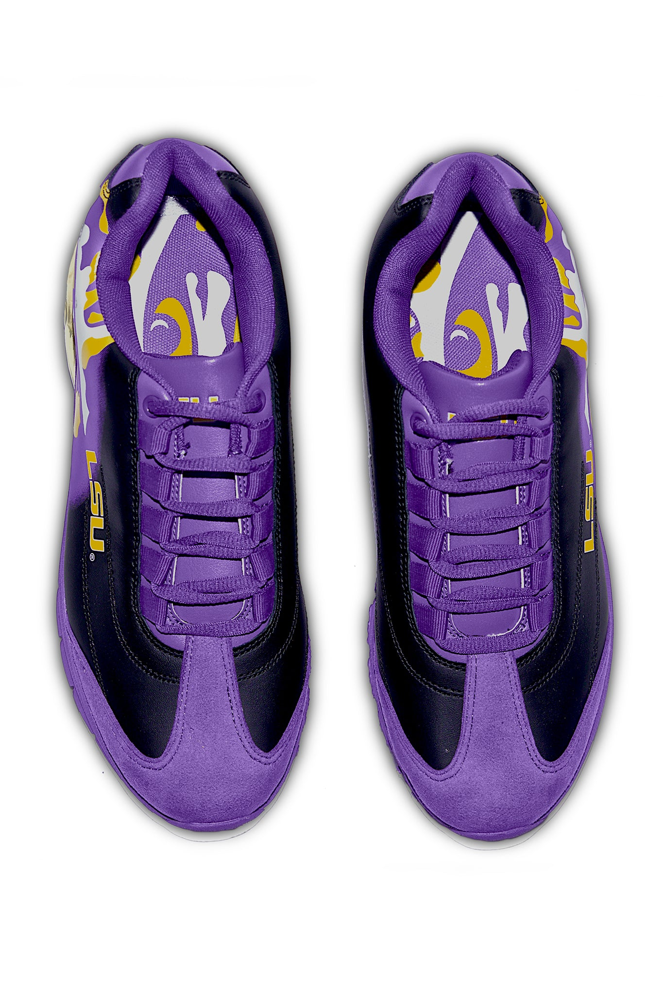 LSU TIGERS MEN'S COLLEGIATE SNEAKER-PURPLE PRE-ORDER NOW