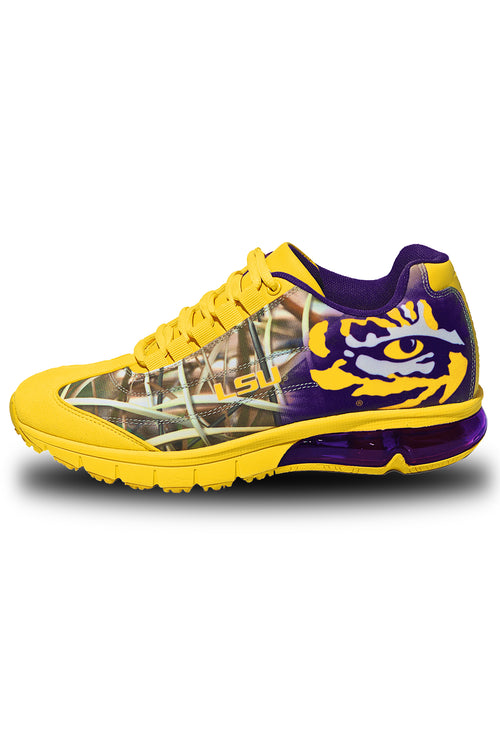 MEN'S LSU TIGERS COLLEGIATE SNEAKERS-BAYOU BANGLES CAMO PRE-ORDER NOW