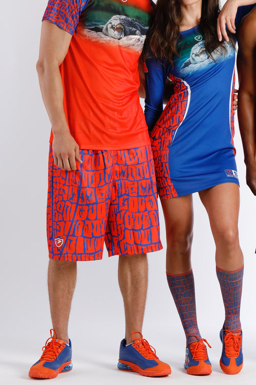 Men's Shorts GSS- Orange / Royal Blue