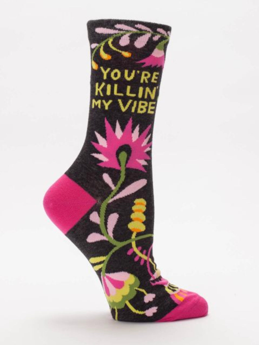 Killin' My Vibe Crew Socks