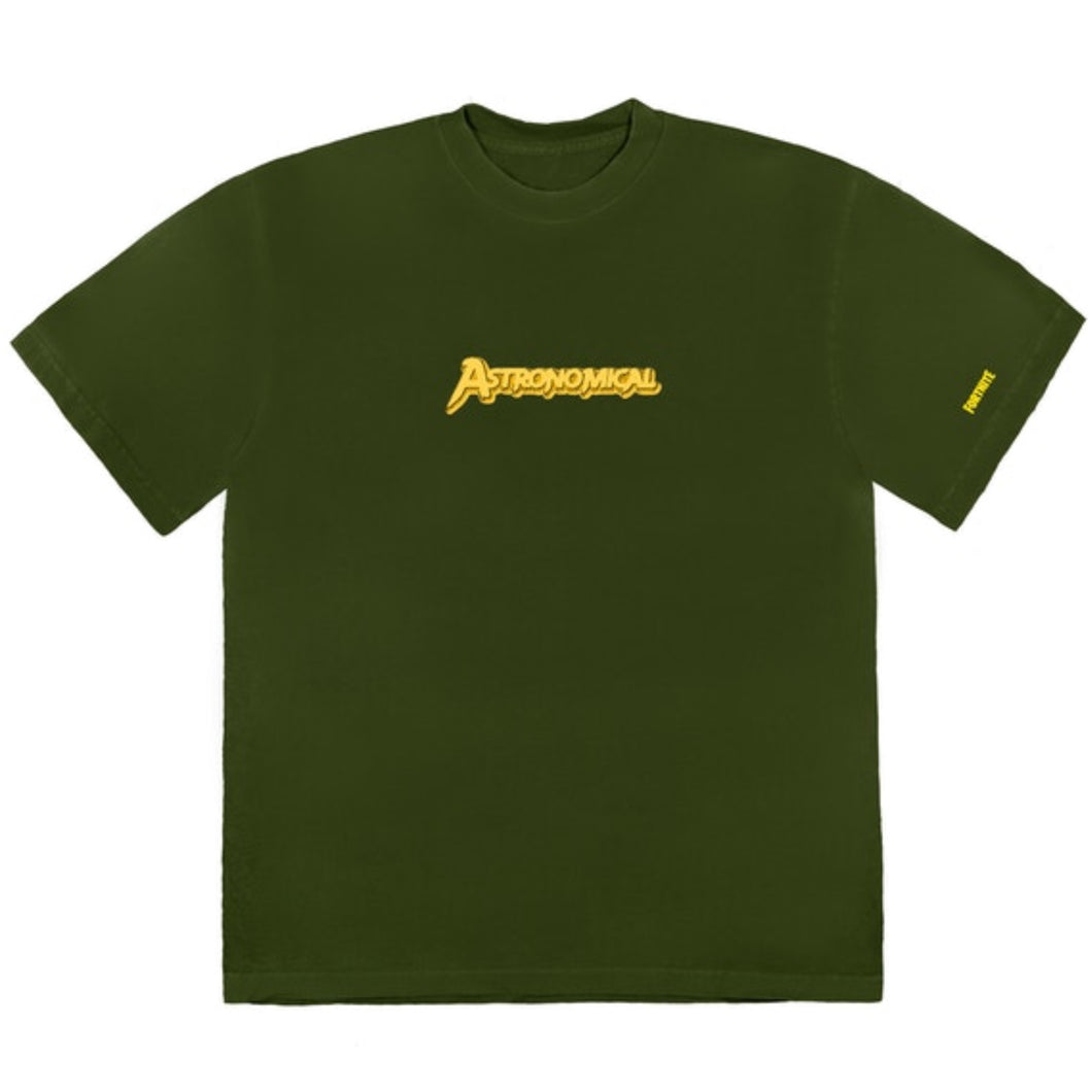 Travis Scott Astro Cyclone T Shirt Washed Olive Small