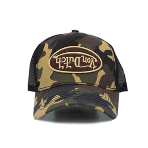 Von Dutch Brown Rambo Camo Trucker Hat