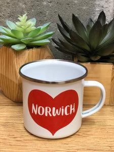Norwich Love Enameled Mug