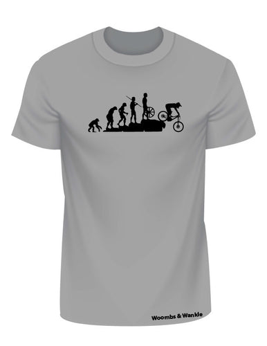 Evolution Downhill Bike Tee - Heather Grey