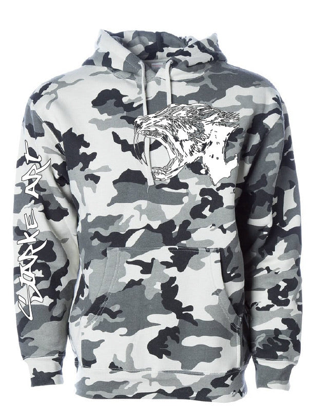 Arctic Camo Hooded Sweatshirt- Sabertooth - Starke Art