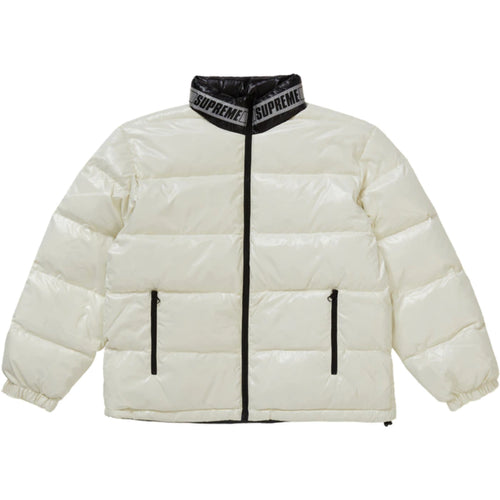 Supreme Shiny Reversible Puffy Jacket White
