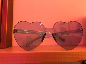 Clear Blue Heart Sunglasses