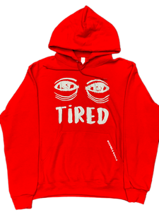 Red Tired Hooded Sweatshirt