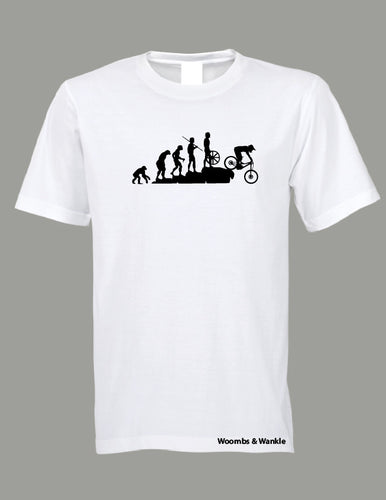 Evolution Downhill Bike Tee - White