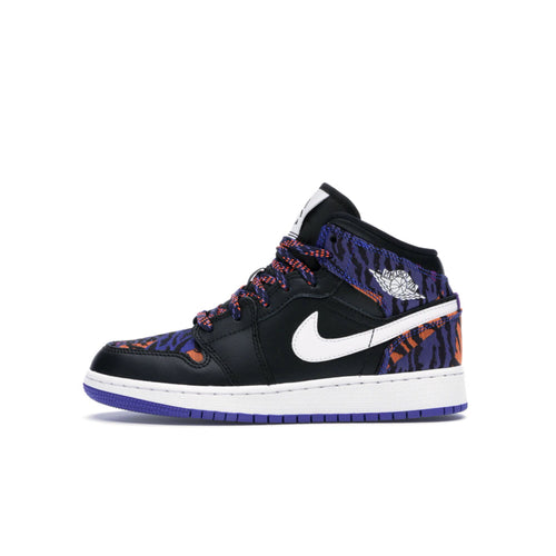 Air Jordan 1 Mid Multi-Color Tiger Stripe