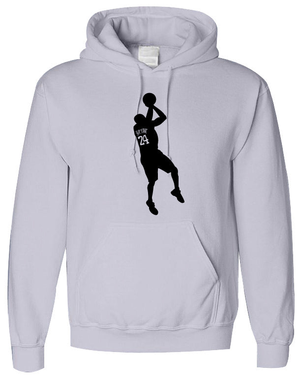 Kobe- 100% Cotton- Hooded Sweatshirt- White