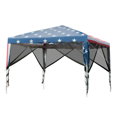 Costway Outdoor 10' x 10' Pop-up Canopy Tent Gazebo Canopy