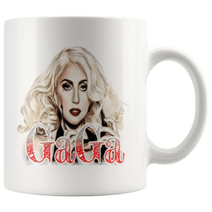 teelaunch Drinkware 11oz Mug 11oz White Mug - Original Artwork - Lady Gaga