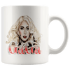 Image of teelaunch Drinkware 11oz Mug 11oz White Mug - Original Artwork - Lady Gaga