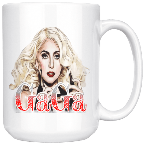 teelaunch Drinkware 15oz Mug 11oz White Mug - Original Artwork - Lady Gaga