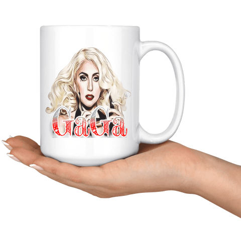 teelaunch Drinkware 11oz White Mug - Original Artwork - Lady Gaga