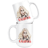 Image of teelaunch Drinkware 11oz White Mug - Original Artwork - Lady Gaga