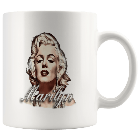 teelaunch Drinkware 11oz Mug 11oz White Mug - Original Artwork - Marilyn