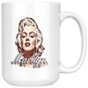 Image of teelaunch Drinkware 15oz Mug 11oz White Mug - Original Artwork - Marilyn