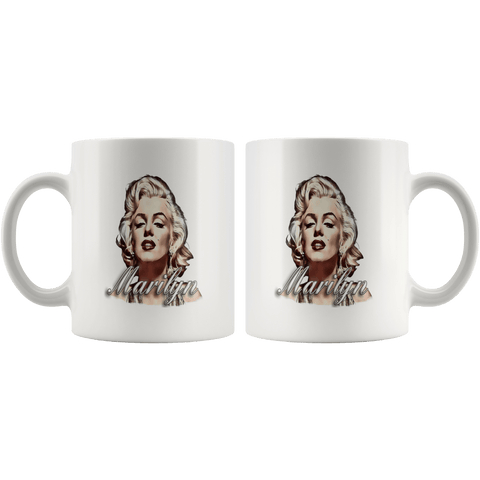 teelaunch Drinkware 11oz White Mug - Original Artwork - Marilyn