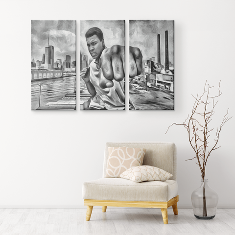 teelaunch Canvas Wall Art Set 3 Ali Said Knock You Out!
